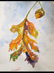 Art: Oak Leaf by Artist Delilah Smith