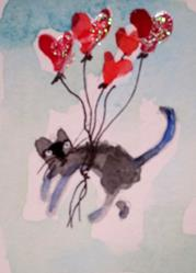 Art: Valentine Kitty by Artist Delilah Smith