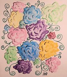 Art: Crazy Carnations by Artist Dee Turner