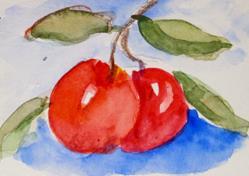 Art: Cherries by Artist Delilah Smith