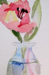 Art: Pink Tulip by Artist Delilah Smith
