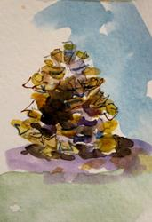 Art: Pine Cone by Artist Delilah Smith