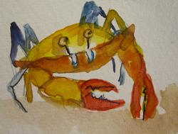 Art: Crab by Artist Delilah Smith
