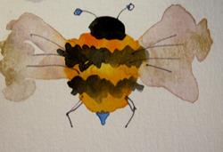Art: Fat Bee by Artist Delilah Smith