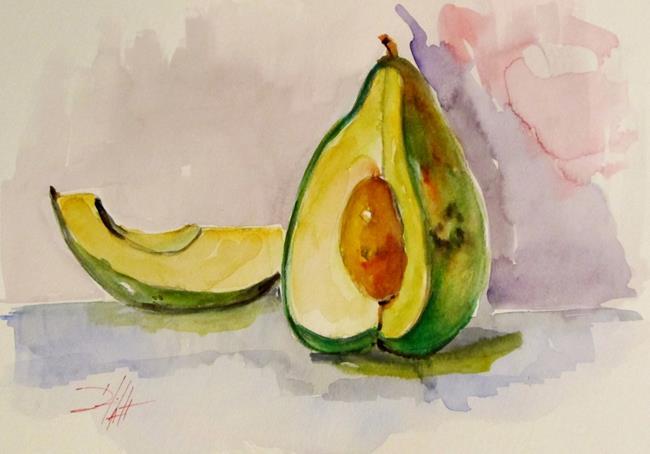 Art: Avocado Still Life No. 2 by Artist Delilah Smith