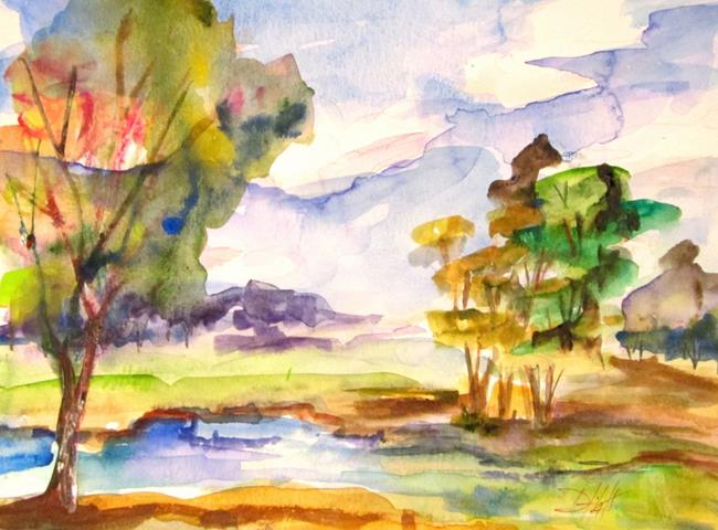 Art: A Stream in the Pasture by Artist Delilah Smith