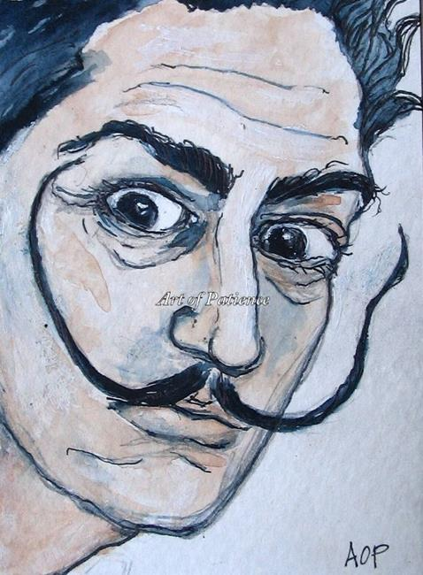 Art: ACEO Enthusiasts Weekly Challenge:  Dali by Artist Patience