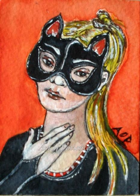 Art: SEHA Monthly Theme: ACEO: Cat Girl by Artist Patience