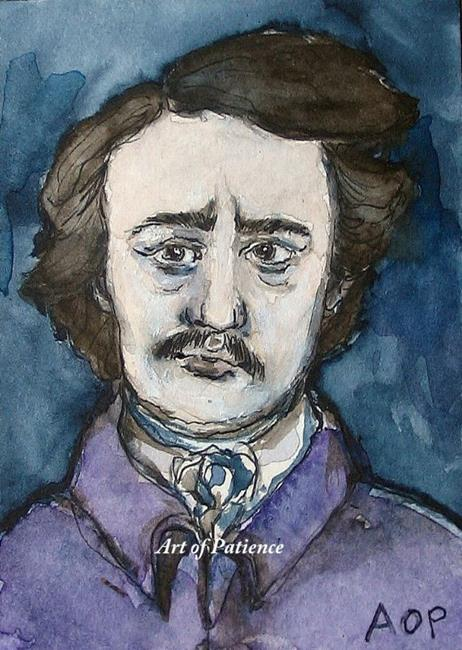 Art: ACEO Enthusiasts Weekly Challenge:  Poe by Artist Patience