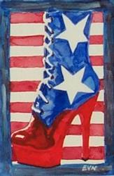 Art: All American Boot by Artist Erika Nelson