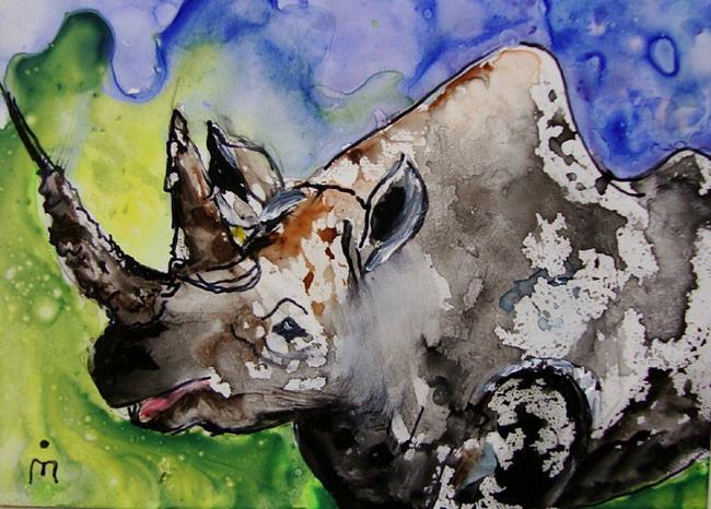 Art: Rhino.JPG by Artist Dottie Cooper Katz