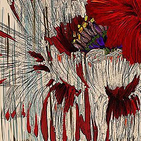 Detail Image for art Poppy Fields Retro Style