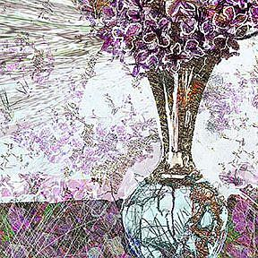 Detail Image for art Scribbled Lilacs