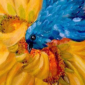 Detail Image for art Dive bombin' Sunflowers