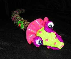 Detail Image for art Phoebe Purple garden snake ornament SOLD