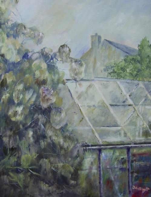 Art: Pat's Greenhouse by Artist John Wright