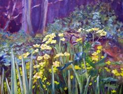 Art: Marsh Marigolds by Artist John Wright