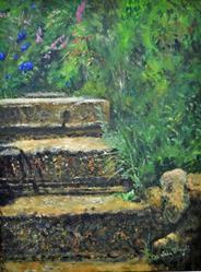 Art: Garden steps by Artist John Wright