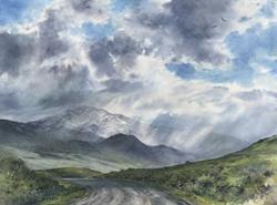 Art: Electric Peak by Artist Lynn Bickerton Chan