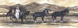 Art: Stagecoach Wedding by Artist Lynn Bickerton Chan