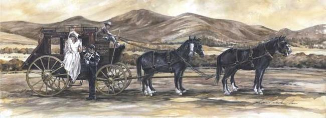 Art: Stagecoach-Wedding.jpg by Artist Lynn Bickerton Chan