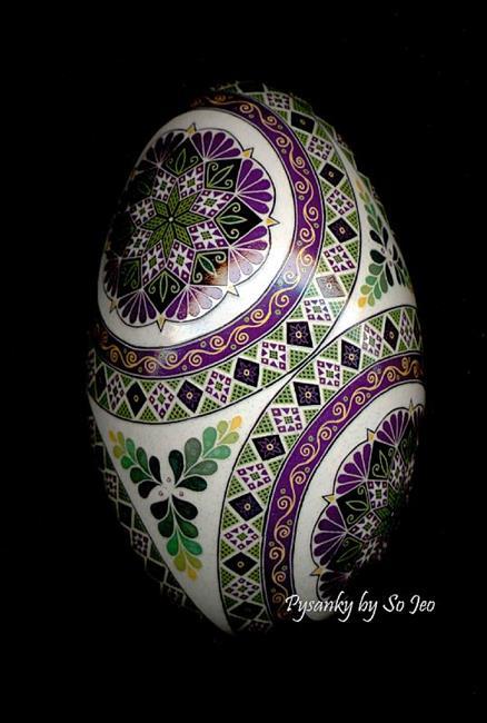 Art: Magenta Etched Goose by Artist So Jeo LeBlond