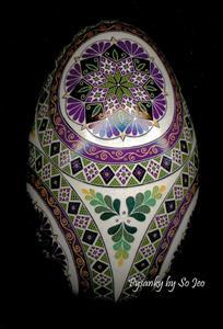 Detail Image for art Magenta Etched Goose