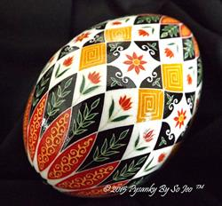 Art: Floral Pysanka 2015 by Artist So Jeo LeBlond