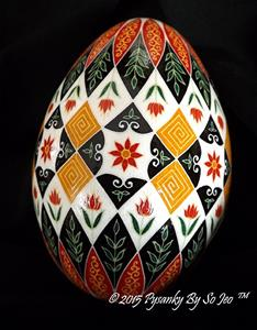 Detail Image for art Floral Pysanka 2015
