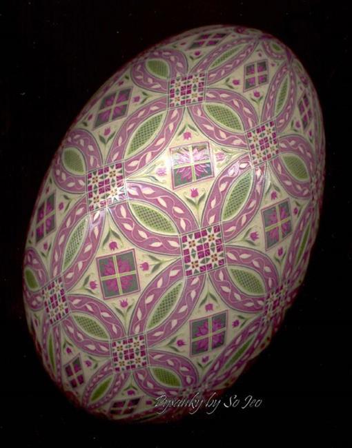 Art: Pale Pink Circles by Artist So Jeo LeBlond