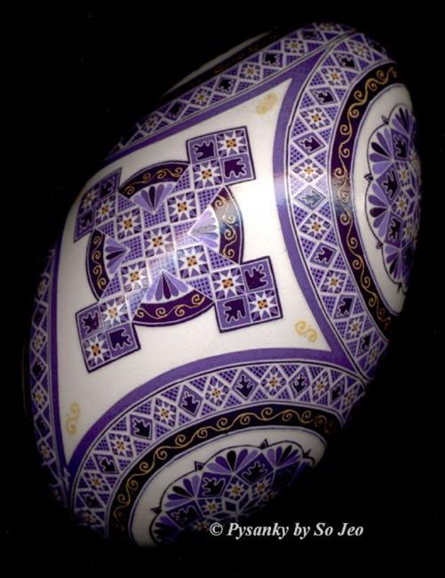 Art: Purple Cross by Artist So Jeo LeBlond