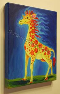 Detail Image for art Into the Wind - Freckles Giraffe