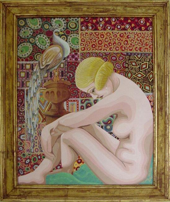 Art: Nouveau Flapper by Artist Tina Marie Ferguson