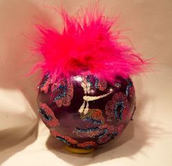 Art: 2012 Dragonfly Ball Hot Pink Leopard #21 by Artist Rebecca M Ronesi-Gutierrez