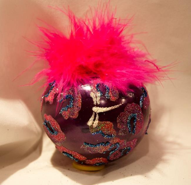 Art: 2012 Dragonfly Ball Hot Pink Leopard #21 by Artist Rebecca M Ronesi-Gutierrez