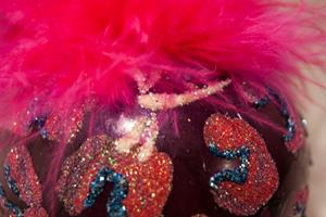 Detail Image for art 2012 Dragonfly Ball Hot Pink Leopard #21