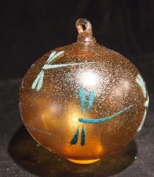 Art: 2012 Dragonfly Ball Cool Gold #16 by Artist Rebecca M Ronesi-Gutierrez