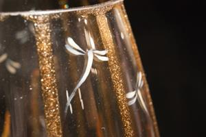 Detail Image for art 2012 Circus Dragonfly Tall Glass Vase