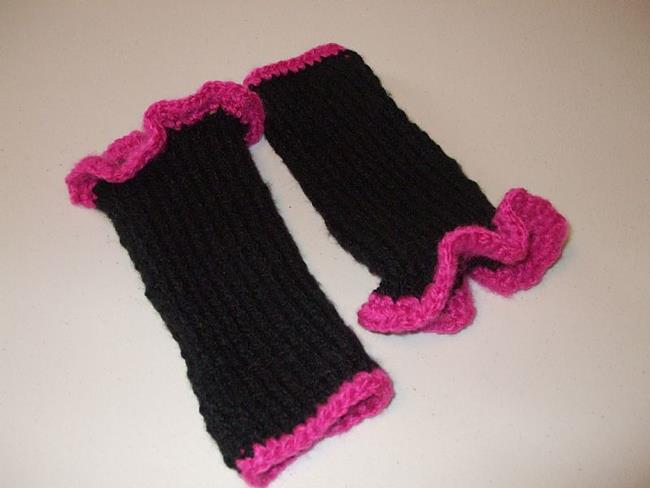 Knitting Pattern Gauntlet Gloves : Handmade Knit Gauntlets Fingerless Gloves - by Bonnie G ...