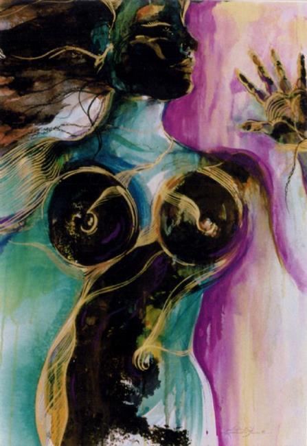 Art: Earth Goddess by Artist Kathy Morton Stanion
