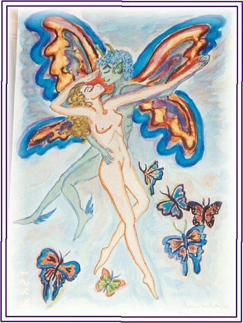 Art: Butterfly Lovers by Artist Karin Elizabeth Weiss