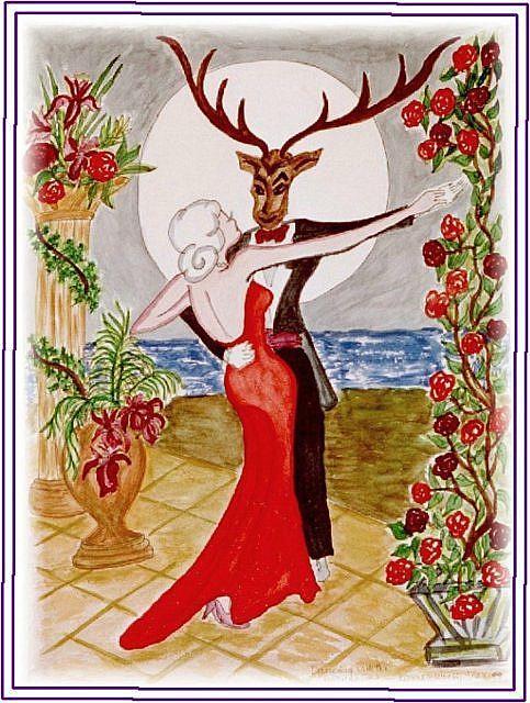 Art: Vamp Tames Beast by Artist Karin Elizabeth Weiss