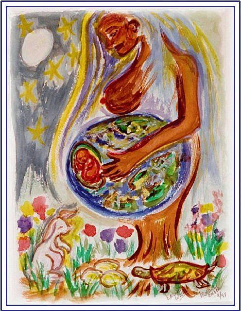 Art: Mother Earth by Artist Karin Elizabeth Weiss
