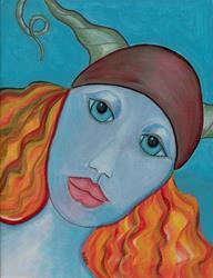 Art: Viking Goddess by Artist Sherry Key