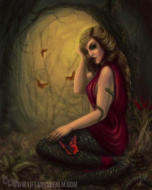 Art: Cursed Lamia by Artist Tiffany Toland-Scott