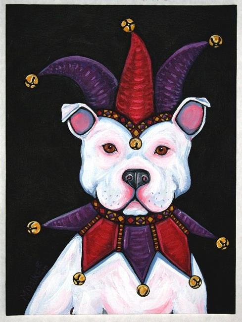 Art: Jester Bully Dog 1 by Artist Melinda Dalke