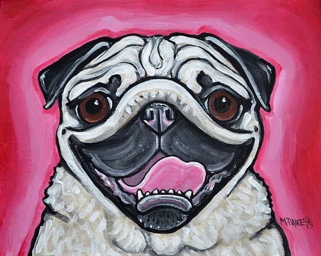 Art: Pug Pink by Artist Melinda Dalke