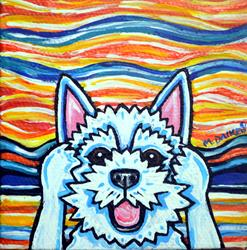 Art: Westie Dog Scream 1 by Artist Melinda Dalke