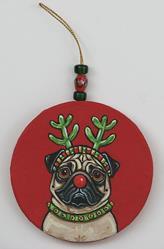 Art: Red Nose Pug 1 by Artist Melinda Dalke