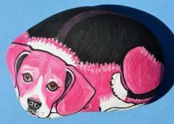 Art: Pink Beagle 1 by Artist Melinda Dalke